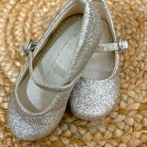 NEXT Silver/Gold Glitter Mary Jane Toddler shoes